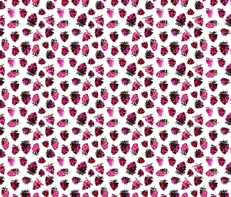 Watercolor blackberries fabric by katerinaizotova on Spoonflower - custom fabric