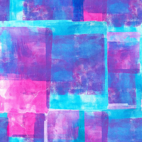 Printed Tiles- pink and blue