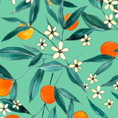 Orange Summer (Light Green)