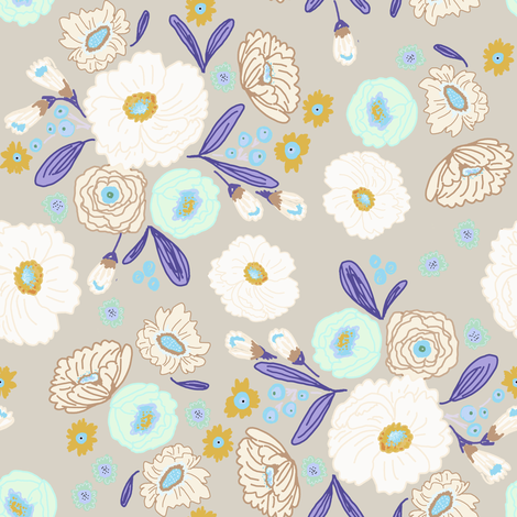 indy bloom design iced florals fabric by indybloomdesign on Spoonflower - custom fabric