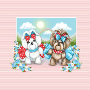 Welcome Spring Maltese and Yorkie Carrier FQ