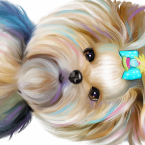 Birthday Girl Yorkie Panel