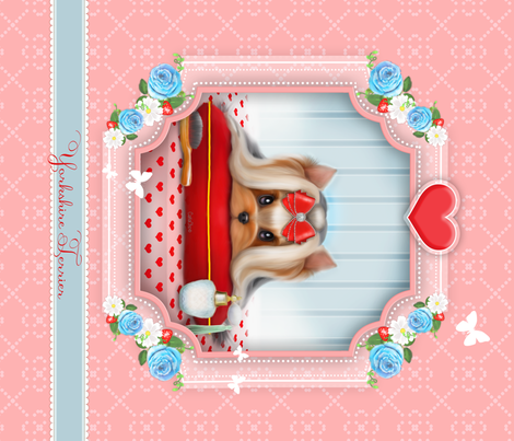 Yorkie beauty Panel fabric by catialee on Spoonflower - custom fabric