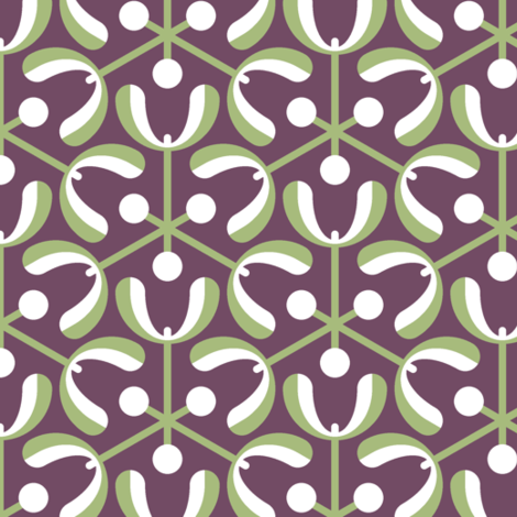 mistletoe 3m : geometric fabric by sef on Spoonflower - custom fabric