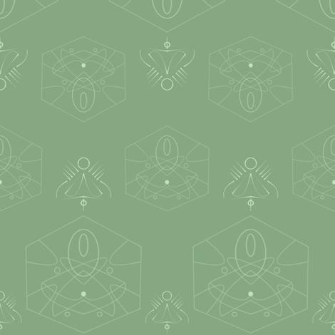 geometric_sage fabric by gothiccolour on Spoonflower - custom fabric