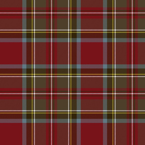 "Stewart / Stuart #3 weathered tartan, 10"""