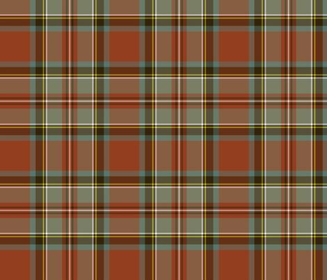 "Stewart / Stuart #3 weathered ancient tartan, 7"" fabric by weavingmajor on Spoonflower - custom fabric"