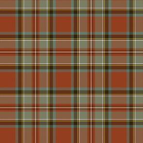 "Stewart / Stuart #3 weathered ancient tartan, 7"""