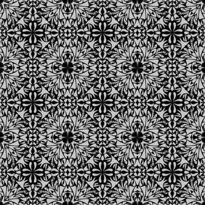 grey_ mosaic design_on_black