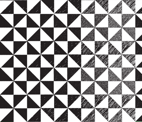 Black and White Pinwheels fabric by lilymorgan on Spoonflower - custom fabric