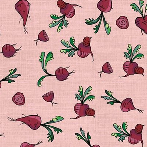 beetroot on pink