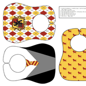 lion house bib - potter's world