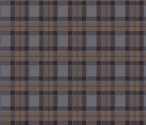Fraser Hunting tartan plaid outlander large fabric by laurawrightstudio on Spoonflower - custom fabric