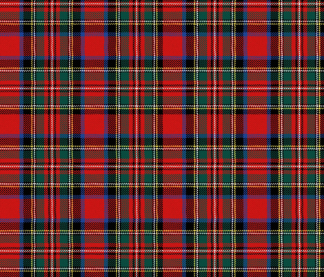 Charles Stuart Stewart tartan plaid outlander fabric by laurawrightstudio on Spoonflower - custom fabric