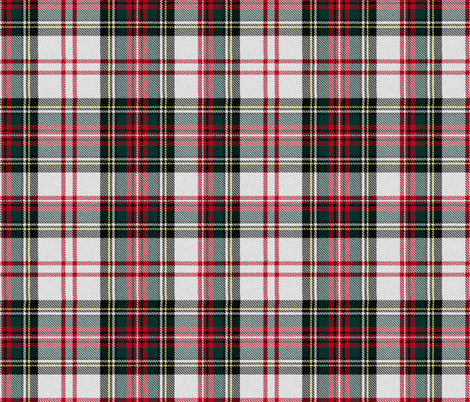 Stewart tartan white plaid outlander fabric by laurawrightstudio on Spoonflower - custom fabric