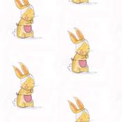 Baby bunny rabbit - Watercolor