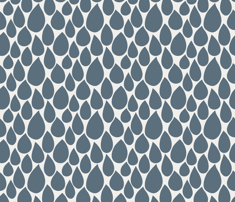 drops blue fabric by marjoleinrooijmans on Spoonflower - custom fabric