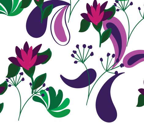 Floraly fabric by lilymorgan on Spoonflower - custom fabric