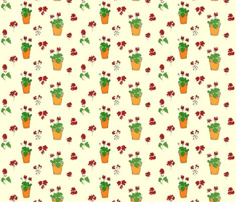 geranium_lemon fabric by linda_bingham on Spoonflower - custom fabric