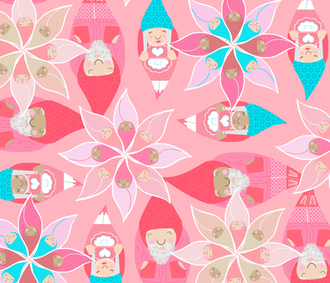 gnome nursery fabric by mulo_marrone on Spoonflower - custom fabric