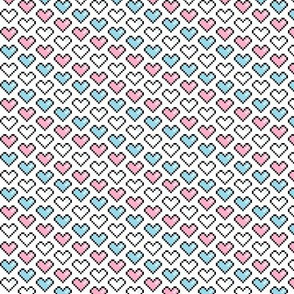 Pixel Heart (Pink, Blue, White)