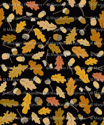 acorns & leafs fall design