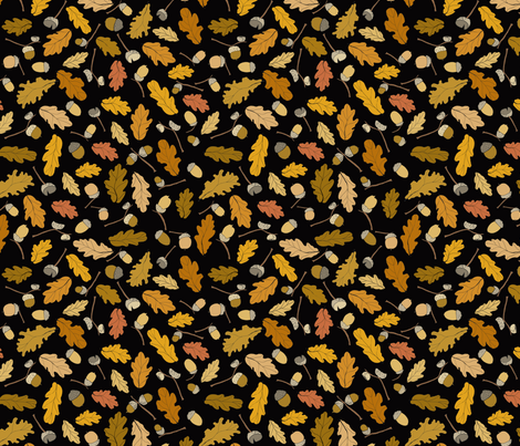 acorns & leafs fall design fabric by marjoleinrooijmans on Spoonflower - custom fabric