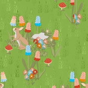 Bunny in the Gnome Garden
