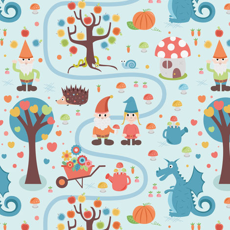 gnomes-eden fabric by la_fabriken on Spoonflower - custom fabric
