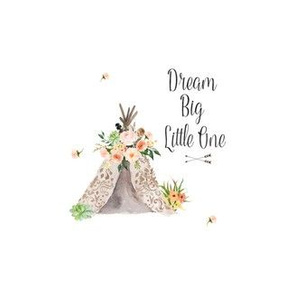 "Dream Big Teepee 3.5"" with 1.5"" space all around"