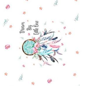 "4"" Dream Catcher Pink & Aqua"