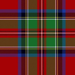 "Royal Stewart / Stuart tartan, 7"""