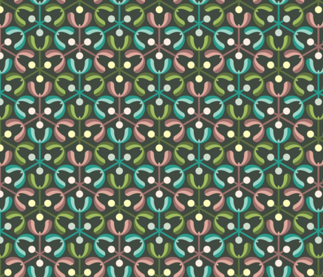 mistletoe 3m3 : oolong fabric by sef on Spoonflower - custom fabric
