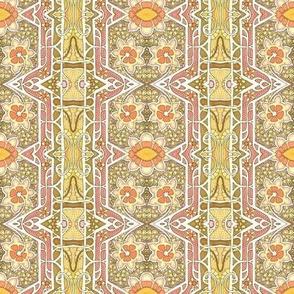 Blooming Nouveau Hexagon Columns