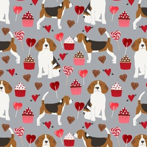 beagle valentines dog fabric love hearts valentines day beagles fabric dogs dog
