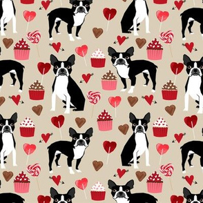 boston terrier valentines day fabric love valentines day boston terriers fabric