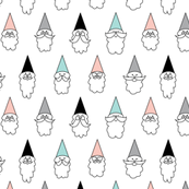 Happy Hipster Gnomes With Mustache