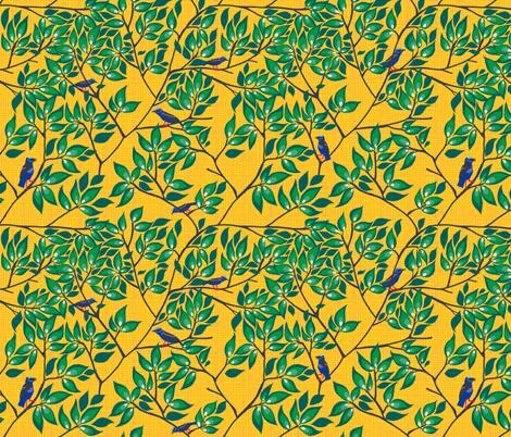 honeycreeper 6  [sun] fabric by kheckart on Spoonflower - custom fabric