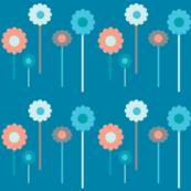 daisies blue-coral