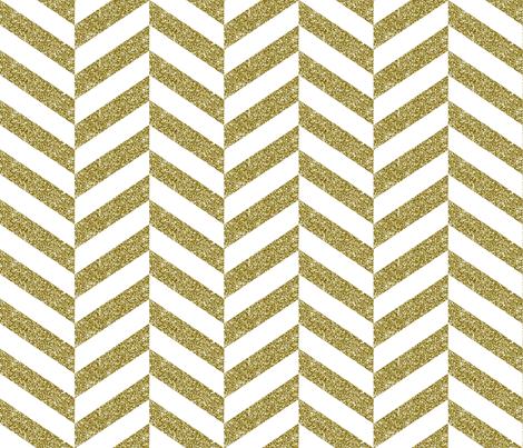 Gold Herringbone fabric by juliacrafts on Spoonflower - custom fabric