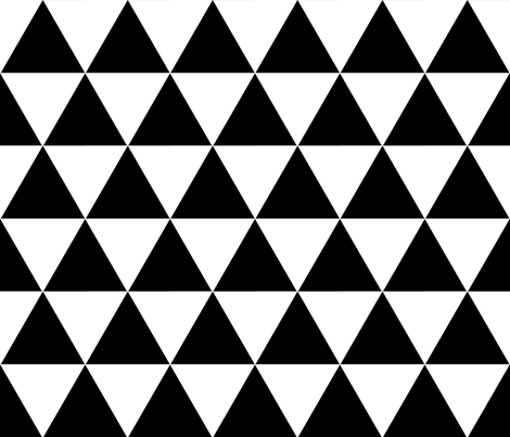 Black Triangles fabric by juliacrafts on Spoonflower - custom fabric