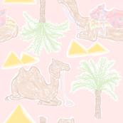 Camel Cabana in Desert Pink Sands