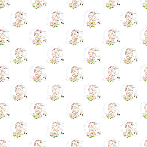 "2"" Sweet Floral Unicorn - More Space fabric by shopcabin on Spoonflower - custom fabric"