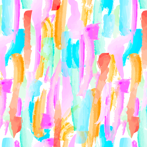 Abstract Brushstrokes 3 - Brights fabric by elliottdesignfactory on Spoonflower - custom fabric