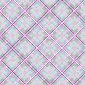 Plaid Criss Cross Purple Pastel