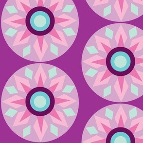 star mandala geo purple
