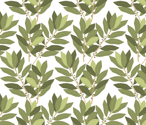 laurier_M fabric by nadja_petremand on Spoonflower - custom fabric