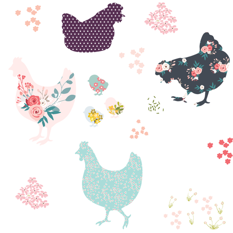 "Country Cuties 8"" fabric by shopcabin on Spoonflower - custom fabric"