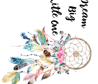 Dream Big Little One Bohemian Dreams Dream Catcher 90 degrees fabric by shopcabin on Spoonflower - custom fabric