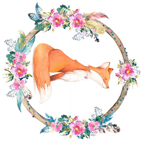 Bohemian Floral Fox 90 degrees
